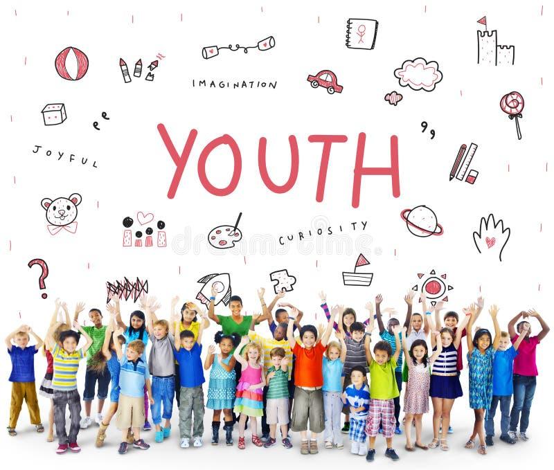 Φανταστείτε το εικονίδιο Conept εκπαίδευσης ελευθερίας παιδιών στοκ φωτογραφίες με δικαίωμα ελεύθερης χρήσης