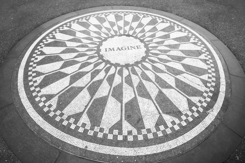Φανταστείτε το μωσαϊκό στο Central Park στοκ εικόνα
