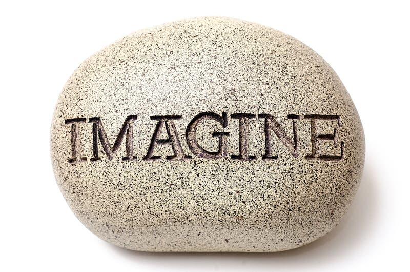 Φανταστείτε χαραγμένος σε έναν βράχο στοκ εικόνες