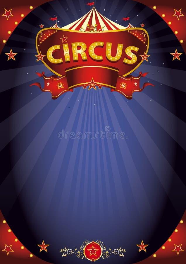 Φανταστική αφίσα τσίρκων νύχτας ελεύθερη απεικόνιση δικαιώματος