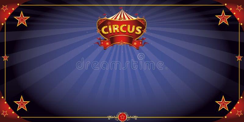 Φανταστική ευχετήρια κάρτα τσίρκων νύχτας ελεύθερη απεικόνιση δικαιώματος