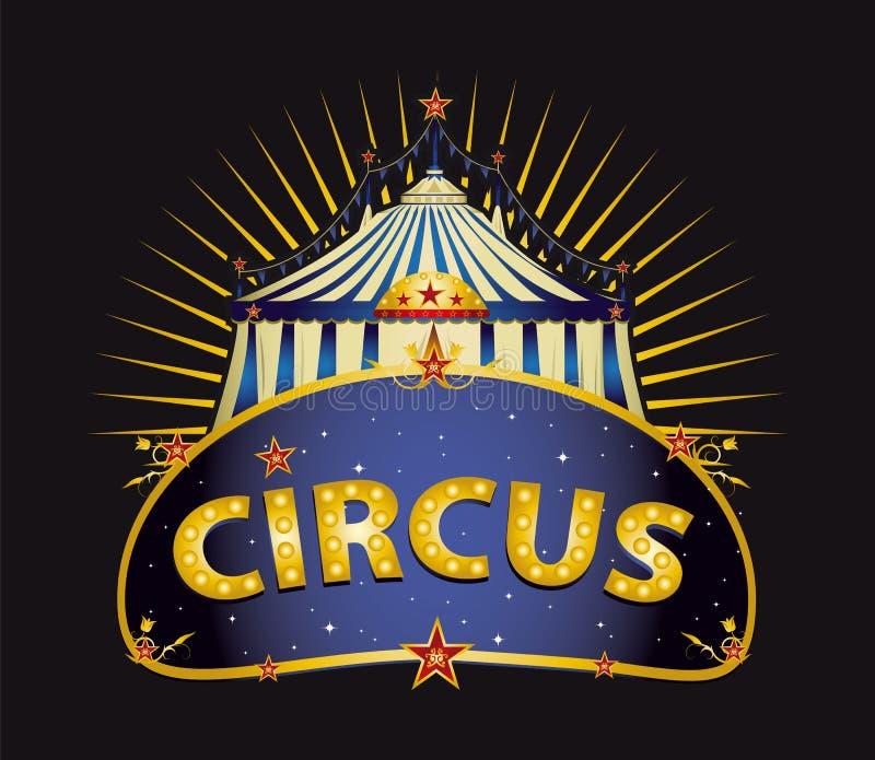 Φανταστική μεγάλη κορυφή τσίρκων στοκ εικόνες