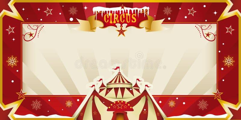 Φανταστική πρόσκληση τσίρκων Χριστουγέννων. ελεύθερη απεικόνιση δικαιώματος