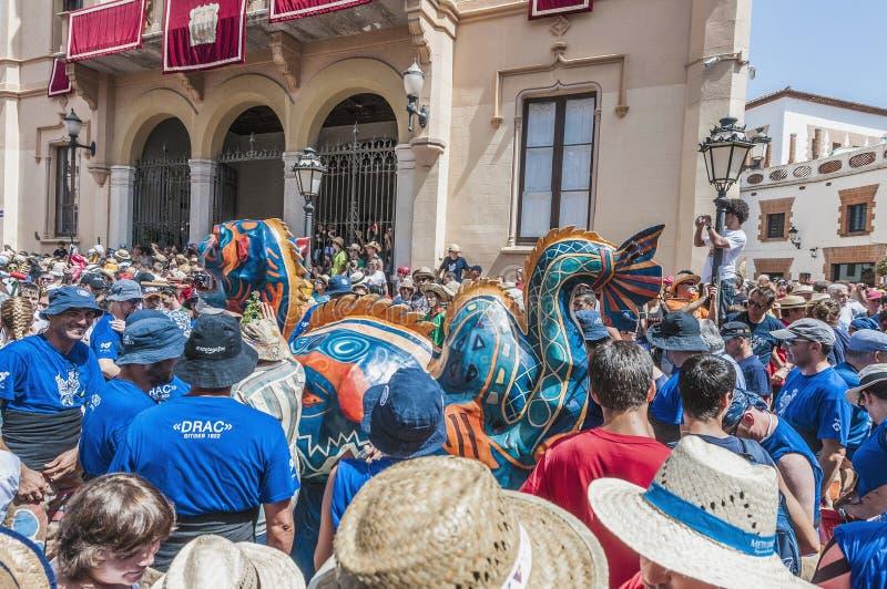 Φανταστικός αριθμός Drac σε Sitges, Ισπανία στοκ εικόνα με δικαίωμα ελεύθερης χρήσης