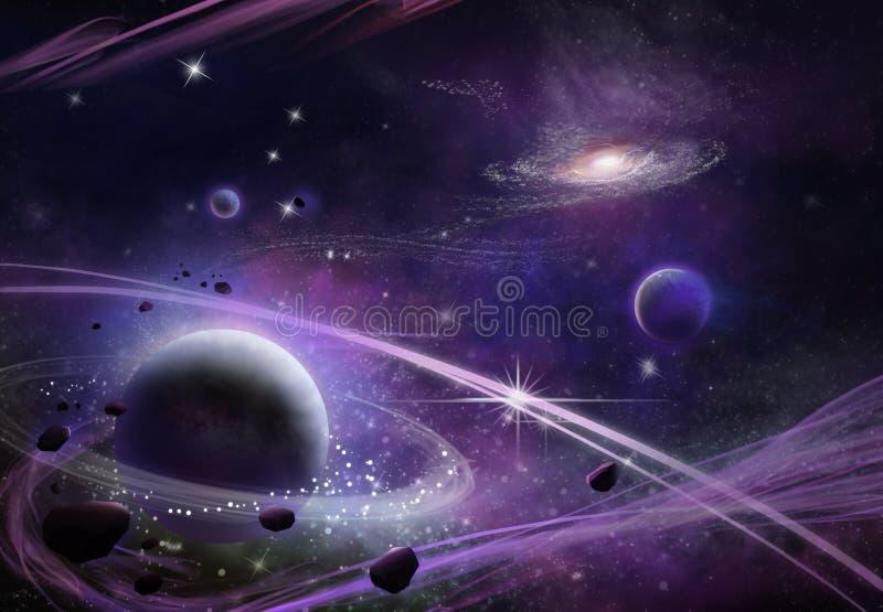 Φανταστικός και εξωτικός τομέας αστεριών διανυσματική απεικόνιση