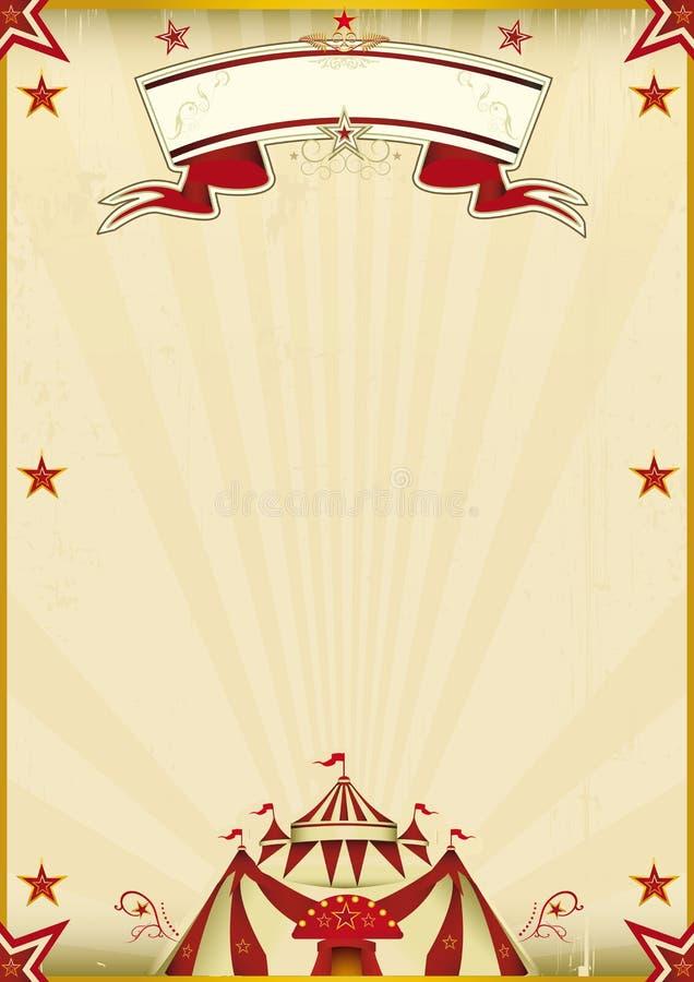 Φανταστικός καφετής τρύγος τσίρκων διανυσματική απεικόνιση