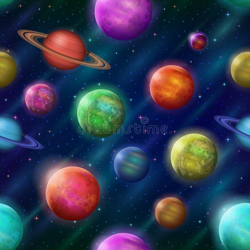 Φανταστικό διαστημικό υπόβαθρο, άνευ ραφής ελεύθερη απεικόνιση δικαιώματος