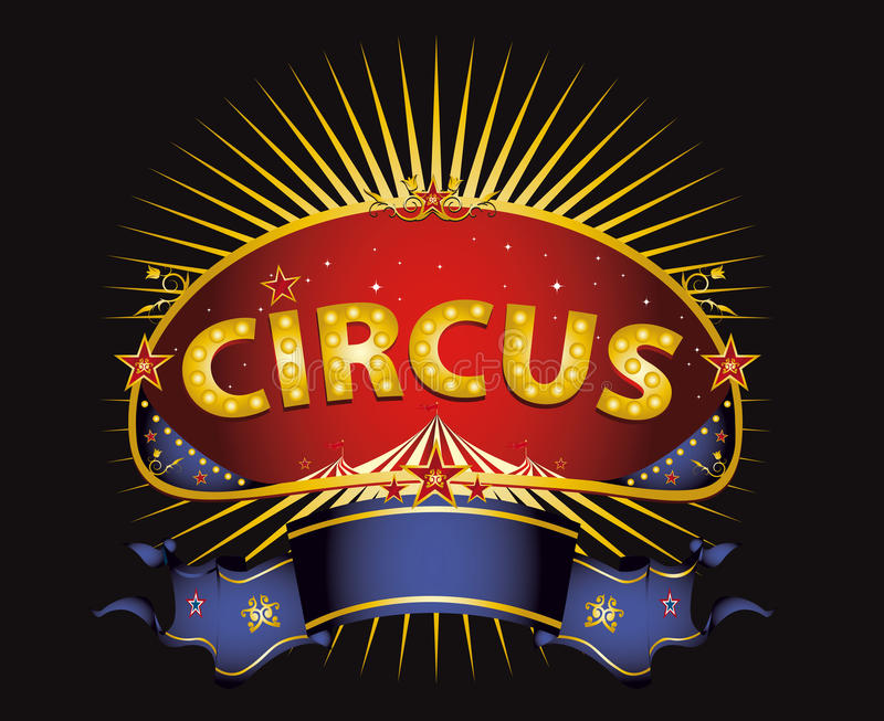 Φανταστικό κόκκινο σημάδι τσίρκων στοκ εικόνα με δικαίωμα ελεύθερης χρήσης