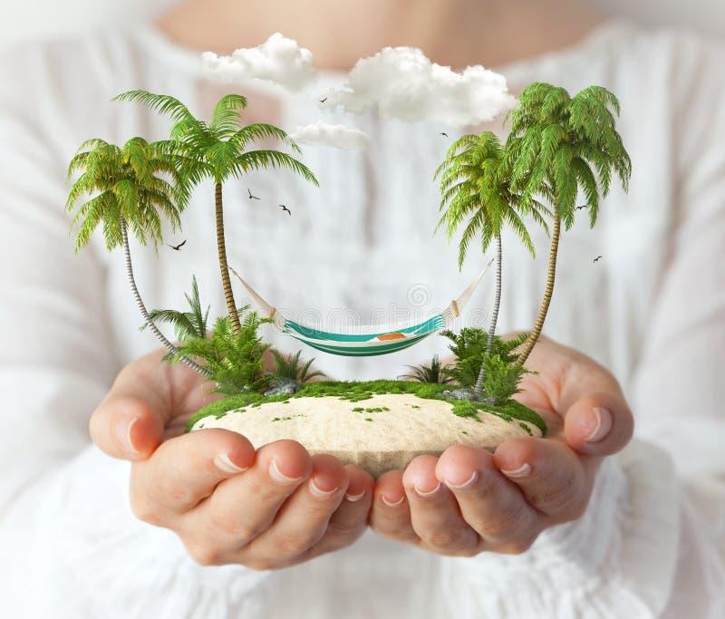 φανταστικό νησί στοκ φωτογραφία με δικαίωμα ελεύθερης χρήσης