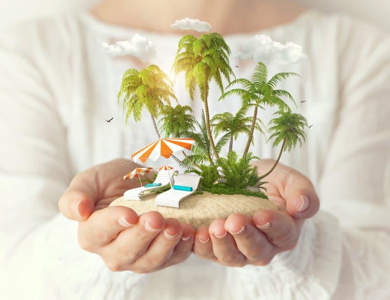 φανταστικό νησί στοκ φωτογραφία