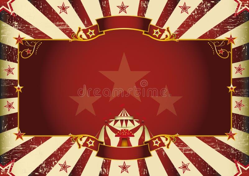 Φανταστικό οριζόντιο τσίρκο ελεύθερη απεικόνιση δικαιώματος