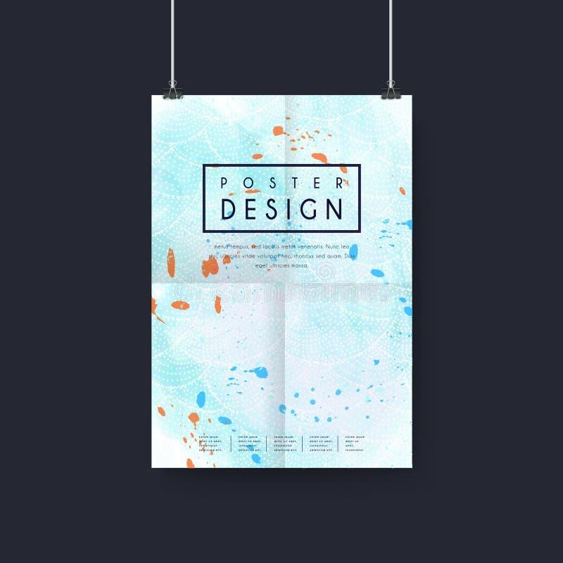 Φανταστικό σχέδιο προτύπων αφισών ελεύθερη απεικόνιση δικαιώματος