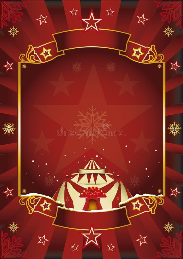 Φανταστικό τσίρκο Χριστουγέννων. ελεύθερη απεικόνιση δικαιώματος