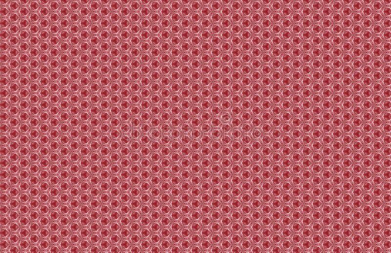 Φανταχτερό κόκκινο άσπρο αφηρημένο μικρό σχέδιο σχεδίων ελεύθερη απεικόνιση δικαιώματος