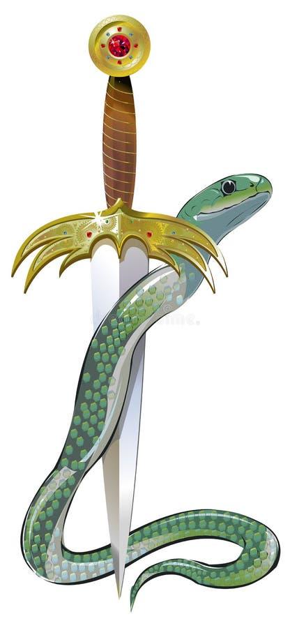 φανταχτερό πράσινο φίδι στι& ελεύθερη απεικόνιση δικαιώματος