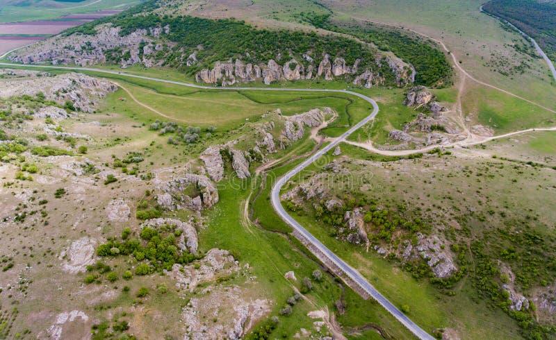 Φαράγγια Dobrogea κοντά σε του δέλτα Dunari και Constanta Ρουμανία στοκ φωτογραφίες με δικαίωμα ελεύθερης χρήσης