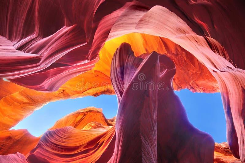Φαράγγι αντιλοπών, Αριζόνα ΗΠΑ στοκ φωτογραφία με δικαίωμα ελεύθερης χρήσης
