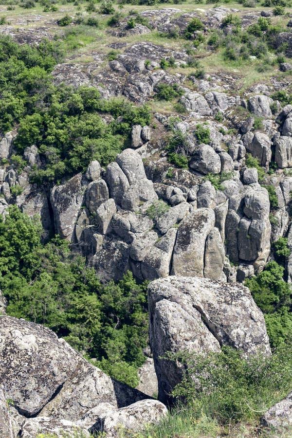 Φαράγγι Βράχοι γρανίτη στοκ φωτογραφίες