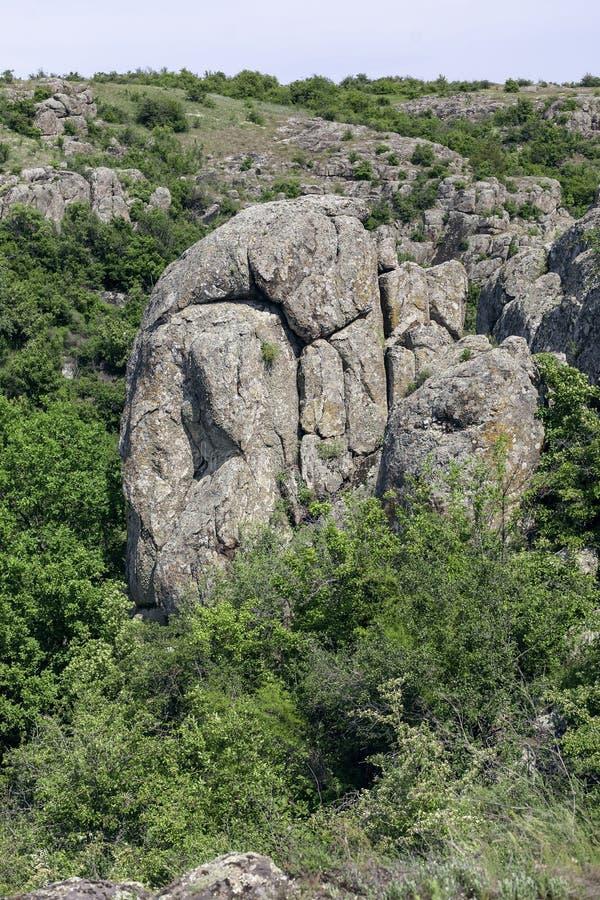 Φαράγγι Βράχοι γρανίτη στοκ εικόνες