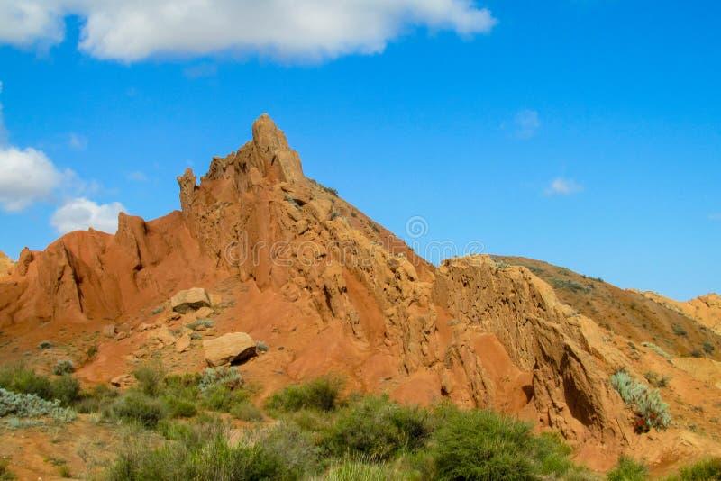 Φαράγγι ουράνιων τόξων παραμυθιού Skazka, Κιργιστάν στοκ εικόνα