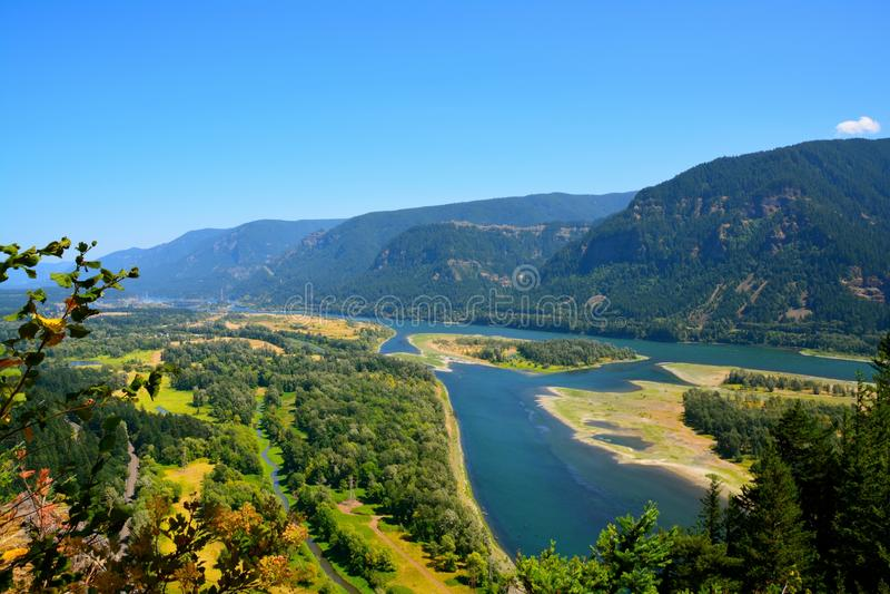 Φαράγγι ποταμών της Κολούμπια στοκ εικόνες