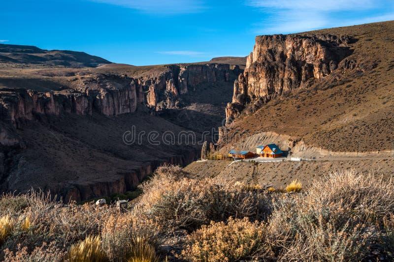 Φαράγγι ποταμών Pinturas, Αργεντινή στοκ εικόνα με δικαίωμα ελεύθερης χρήσης