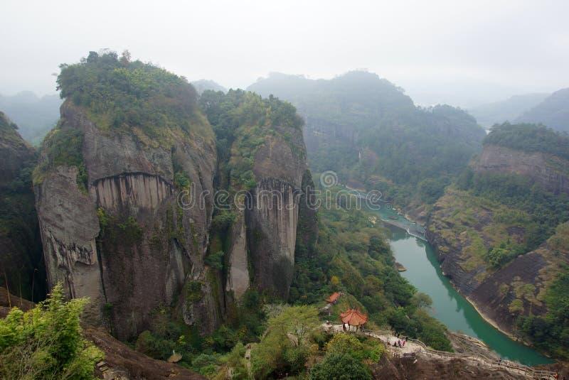 Φαράγγι στο βουνό Wuyishan, επαρχία Fujian, Κίνα στοκ εικόνες