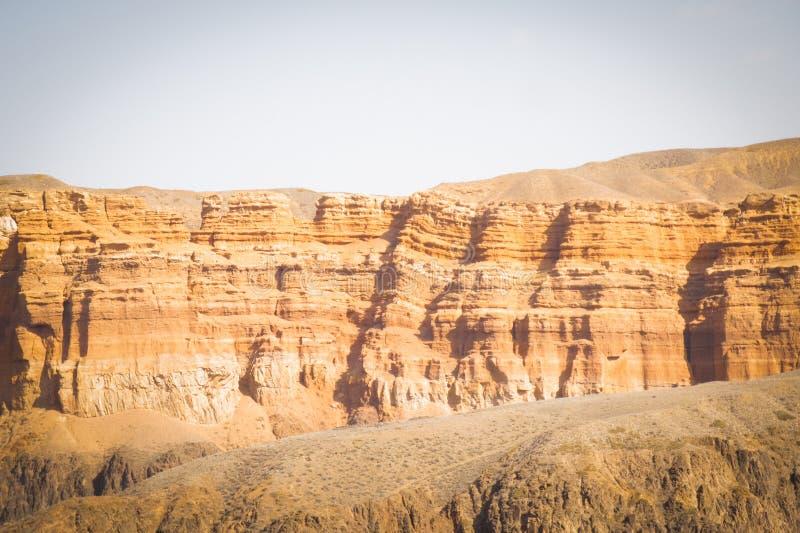 φαράγγι charyn Καζακστάν Η κοιλάδα των κάστρων στοκ εικόνες