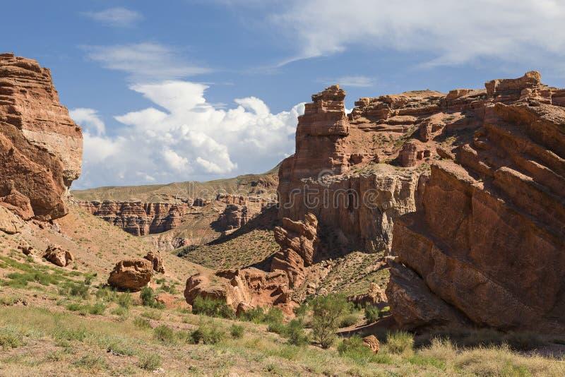 Φαράγγι Charyn και η κοιλάδα των κάστρων στο Καζακστάν στοκ φωτογραφία με δικαίωμα ελεύθερης χρήσης