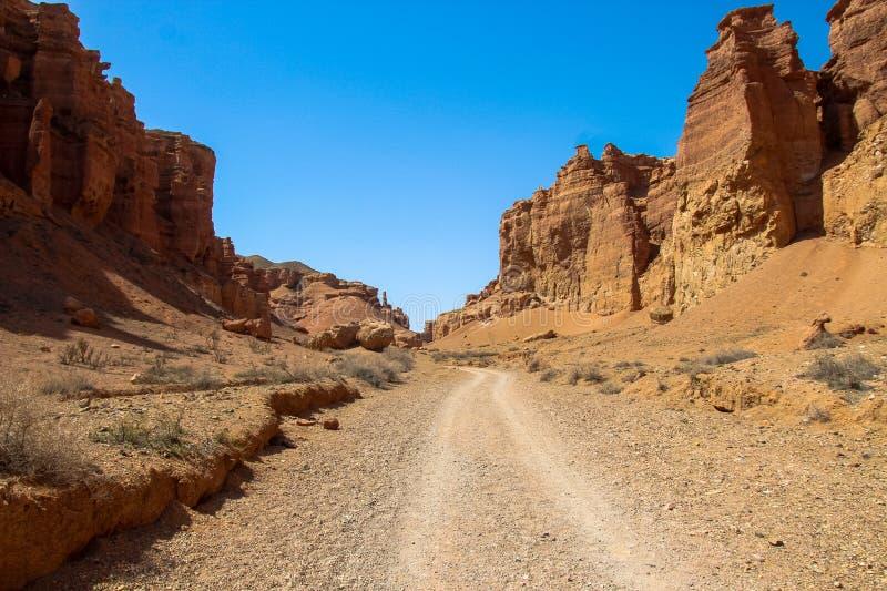 Φαράγγι Charyn και η κοιλάδα των κάστρων, εθνικό πάρκο, Kazakhst στοκ φωτογραφία με δικαίωμα ελεύθερης χρήσης