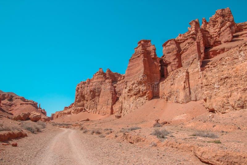 Φαράγγι Charyn και η κοιλάδα των κάστρων, εθνικό πάρκο, Kazakhst στοκ εικόνες με δικαίωμα ελεύθερης χρήσης