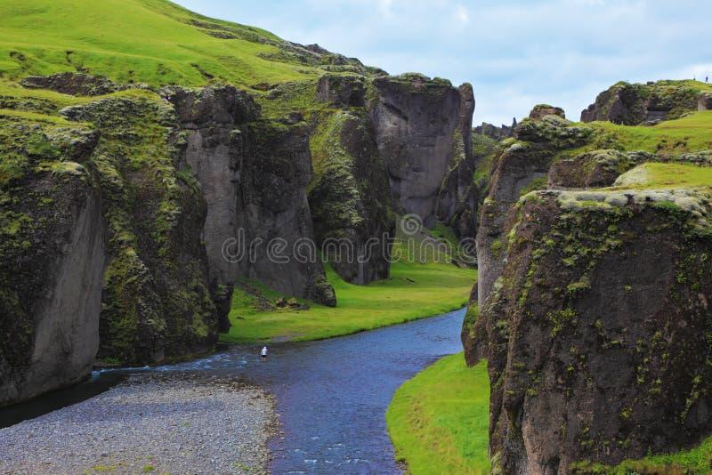 Φαράγγι Fjadrargljufur στοκ εικόνες