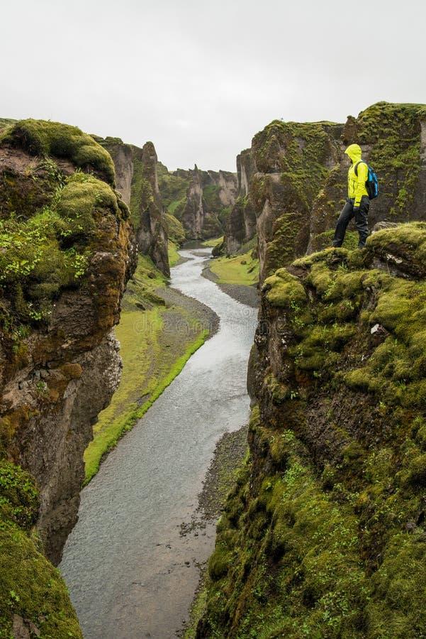 Φαράγγι Fjadrargljufur στοκ φωτογραφία