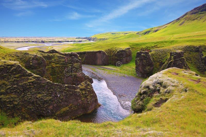 Φαράγγι Fyadrarglyufur Neverland στοκ εικόνα με δικαίωμα ελεύθερης χρήσης