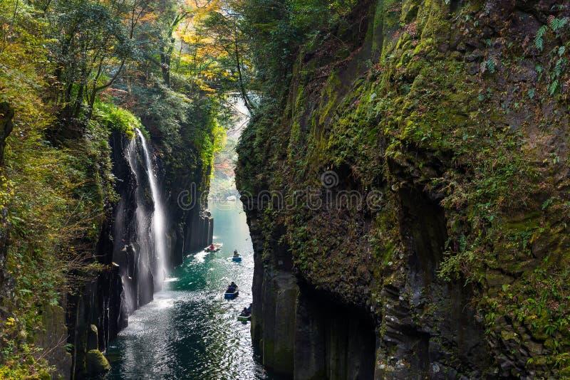 Φαράγγι Takachiho το φθινόπωρο στοκ φωτογραφίες