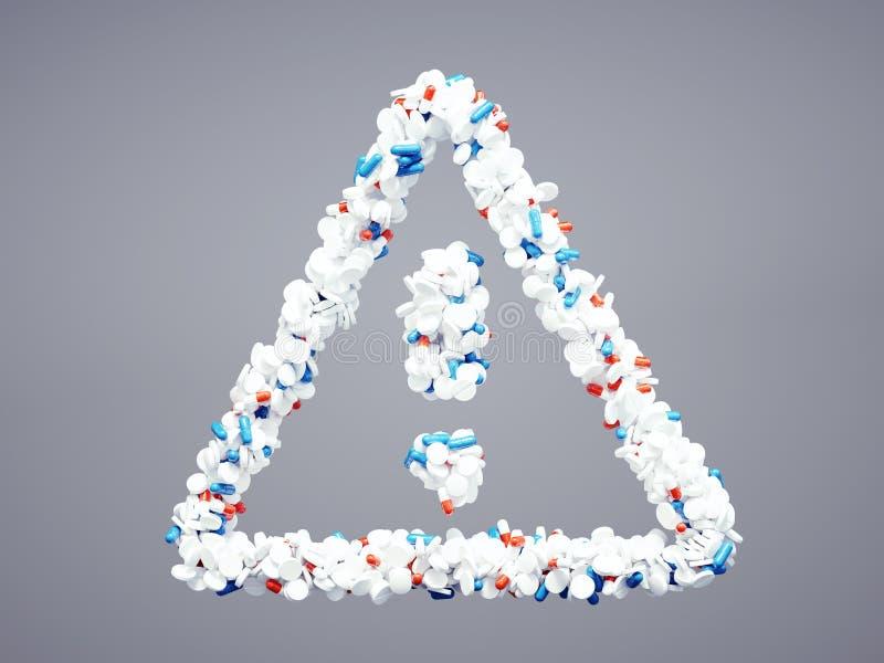 Φαρμακευτικό εικονίδιο προσοχής απεικόνιση αποθεμάτων