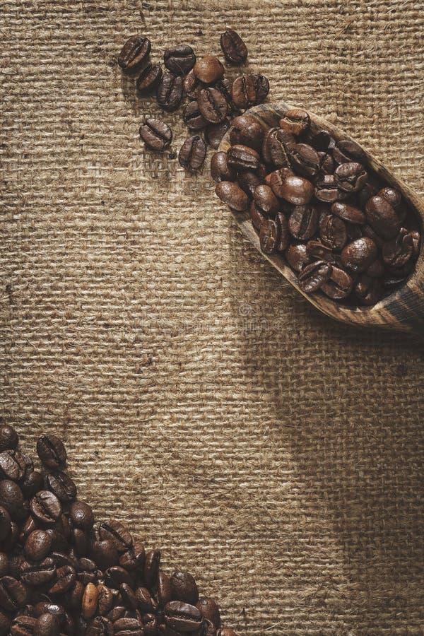 Φασόλια καφέ και φτυάρι στοκ φωτογραφίες με δικαίωμα ελεύθερης χρήσης