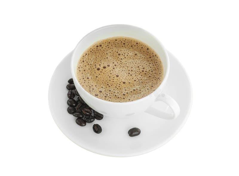 Φασόλι φλιτζανιών του καφέ και καφέ που απομονώνεται, ψαλίδισμα στοκ φωτογραφίες με δικαίωμα ελεύθερης χρήσης