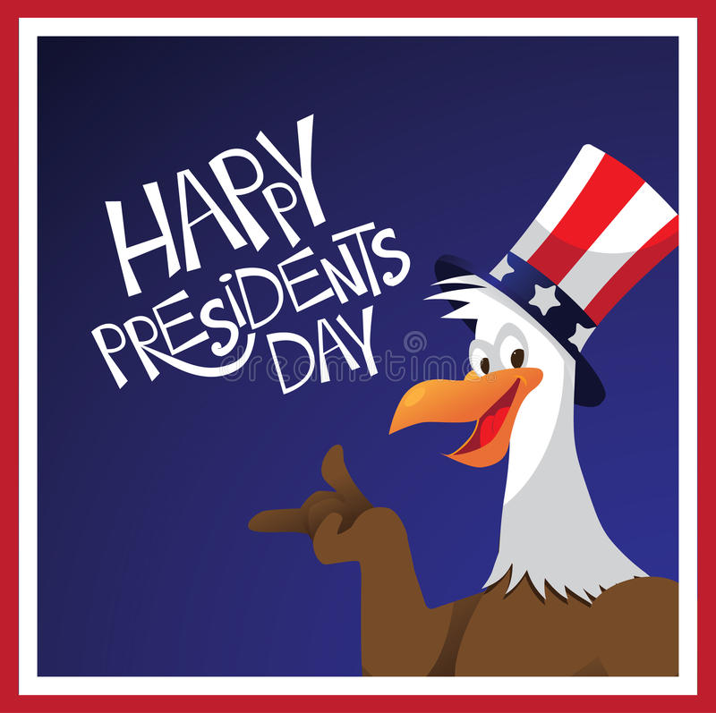 Φαλακρός αετός σχέδιο Προέδρων Day διανυσματική απεικόνιση