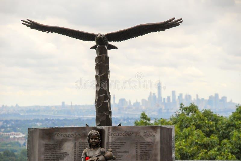 9/11 φαλακρό άγαλμα αετών στοκ φωτογραφία