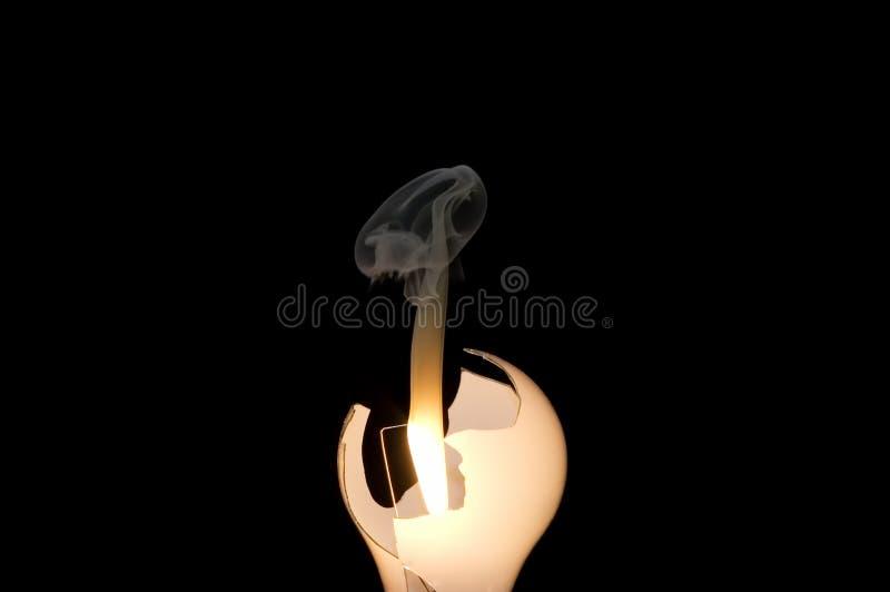 φγμένο ενέργεια lightbulb στοκ φωτογραφία