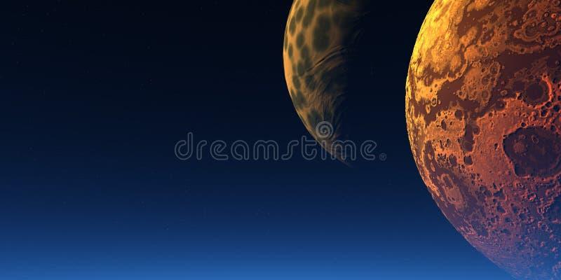 φεγγάρια δύο ελεύθερη απεικόνιση δικαιώματος