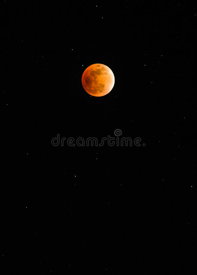 Φεγγάρι αίματος στοκ εικόνα με δικαίωμα ελεύθερης χρήσης
