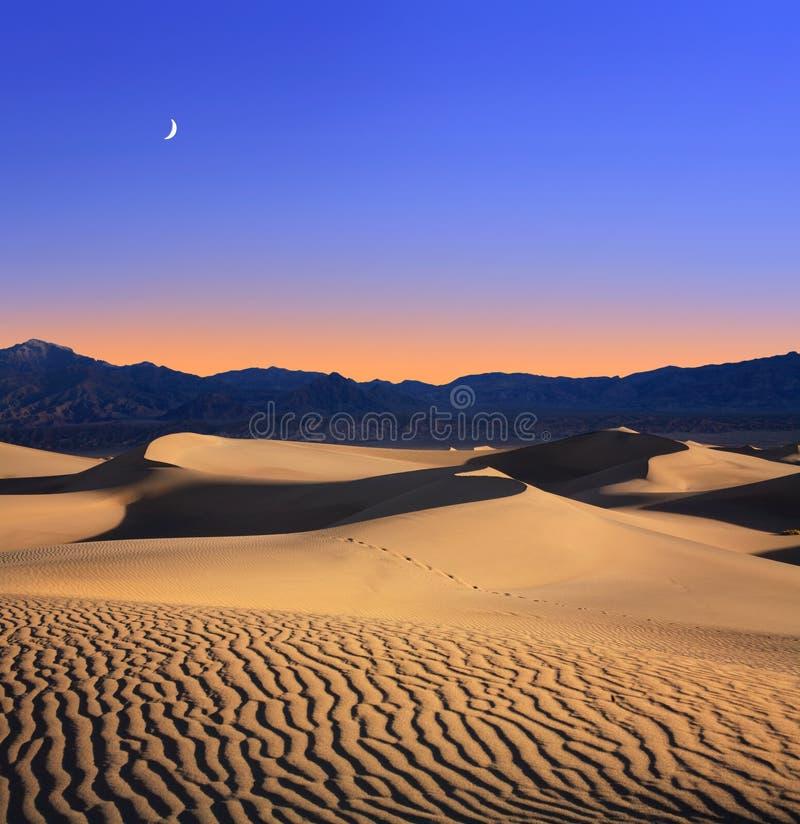 φεγγάρι αμμόλοφων στοκ εικόνες