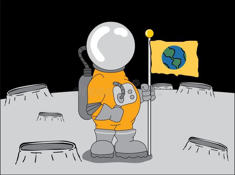 φεγγάρι αστροναυτών διανυσματική απεικόνιση