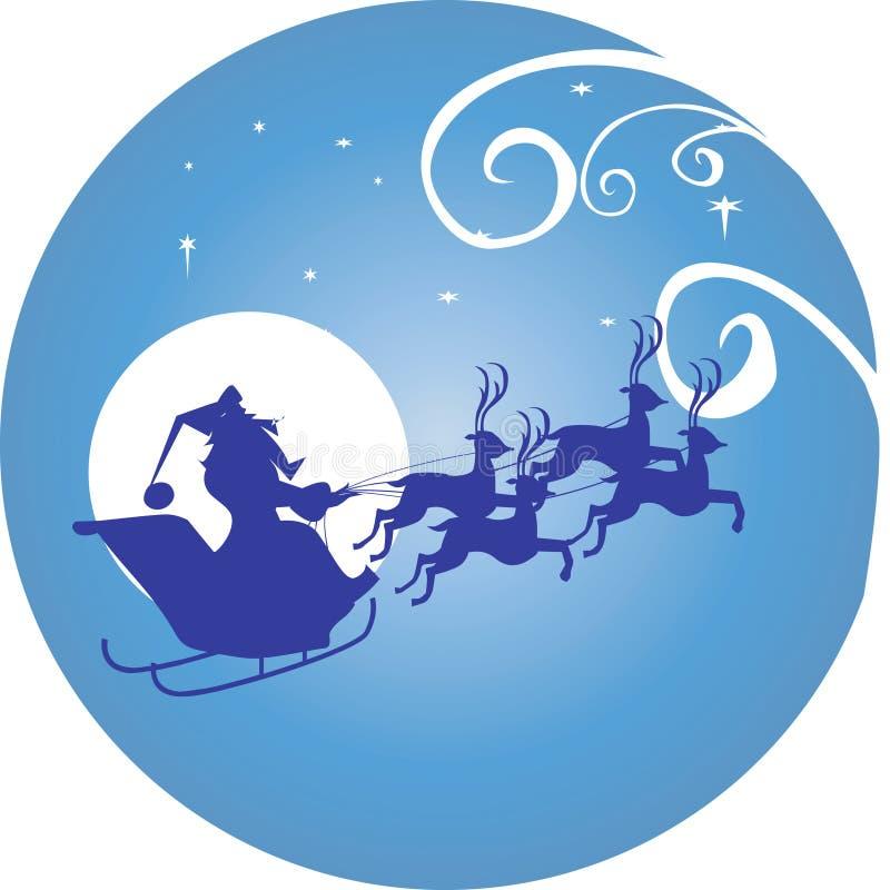 Φεγγάρι και Άγιος Βασίλης ελεύθερη απεικόνιση δικαιώματος