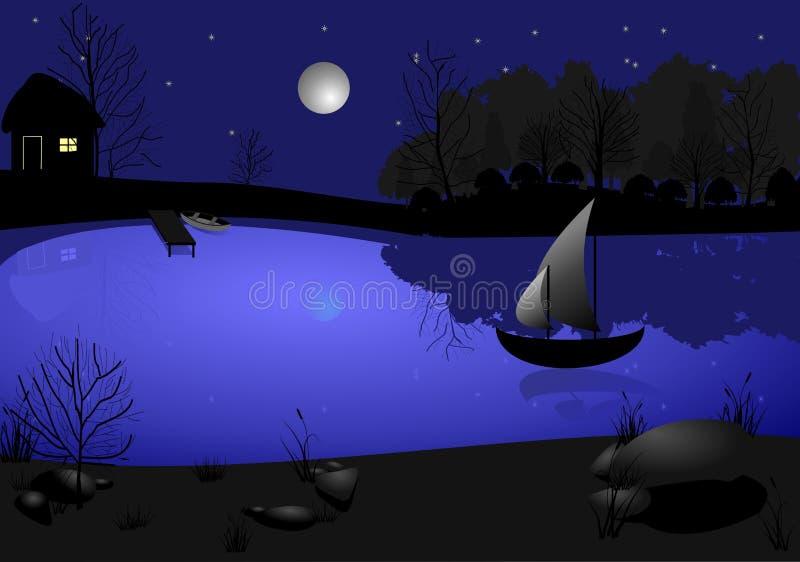 Φεγγάρι και πανί απεικόνιση αποθεμάτων