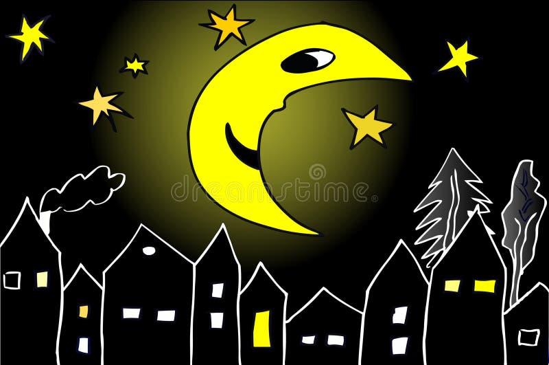 φεγγάρι μεσάνυχτων Στοκ εικόνες με δικαίωμα ελεύθερης χρήσης