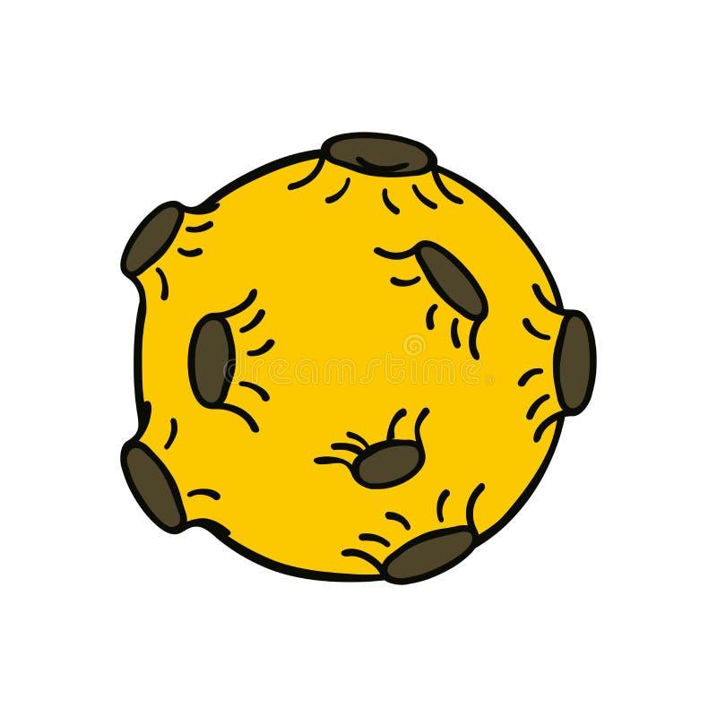 Φεγγάρι με τους κρατήρες ελεύθερη απεικόνιση δικαιώματος