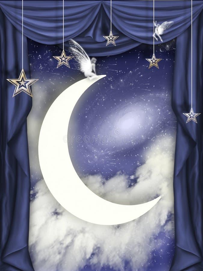 φεγγάρι παιδιών απεικόνιση αποθεμάτων